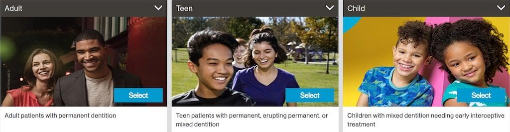 隱適美隱形牙套產品線分類-成人Adult-青少年Teen-兒童Child-台中隱適美推薦