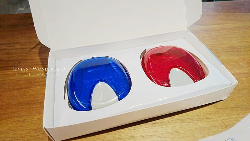 隱適美隱形牙套日記-invisalign-戴蒙矯正器-牙齒矯正心得比較-第一次會拿到兩個不同顏色牙套攜帶盒